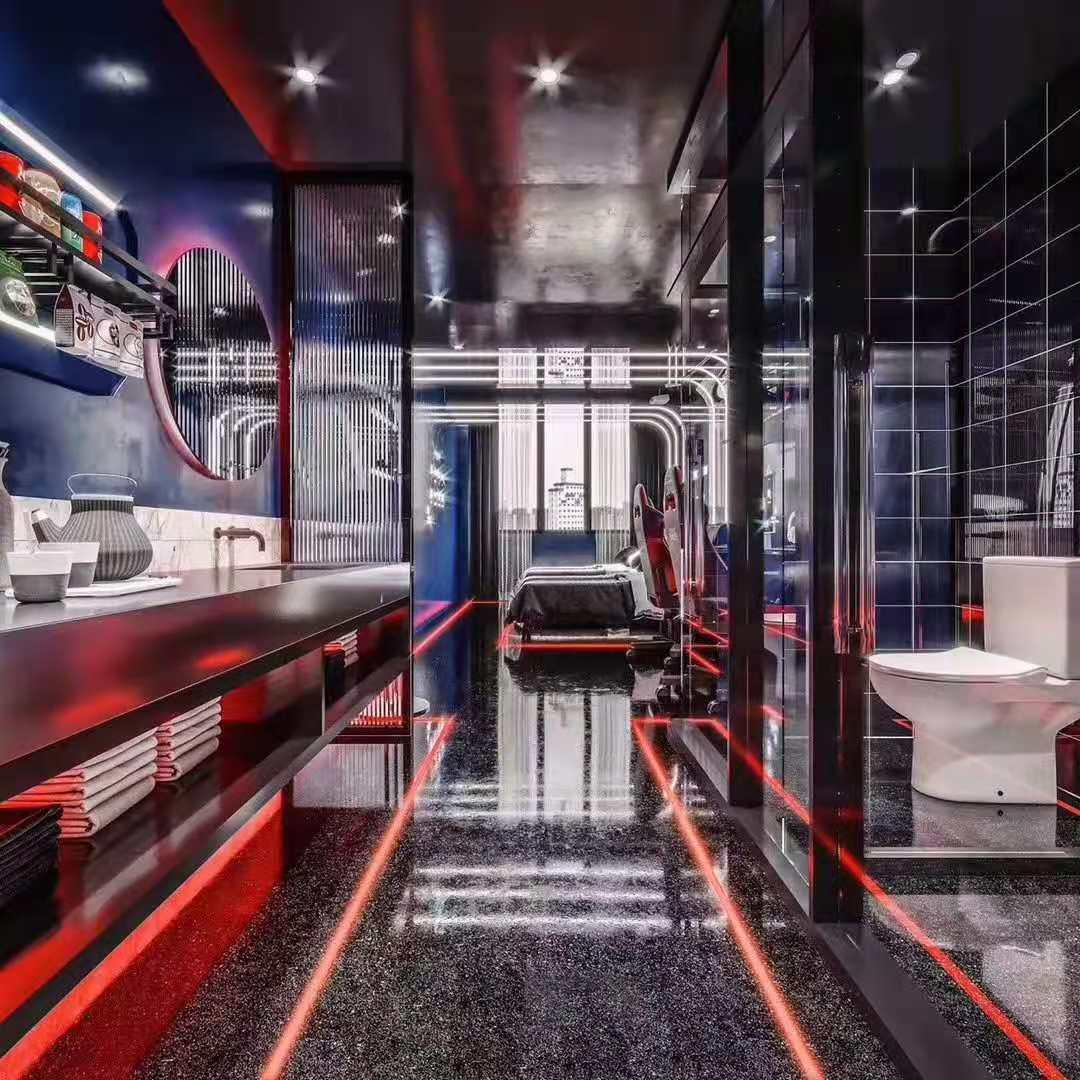 黑红电竞网红科技风格点击酒店案例欣赏